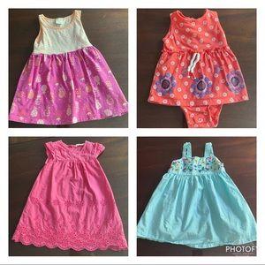 LOT of 4 baby girl dresses: 12M